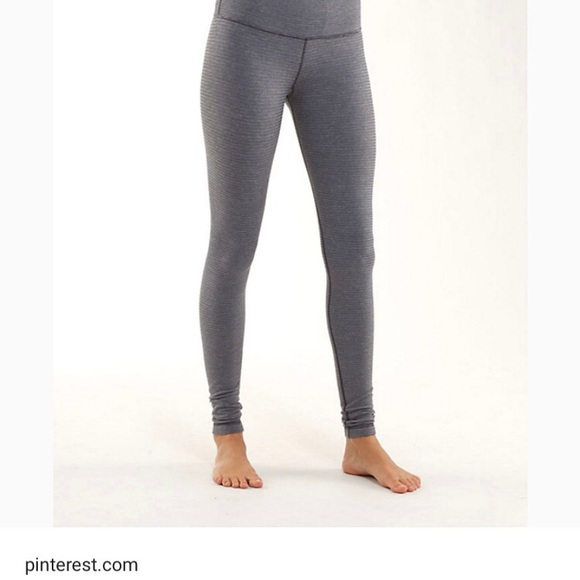 9d29fdd91a878 lululemon athletica Pants | Iso Grey Solid Full Length Fitted Lulu ...